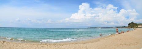 Panorama da praia sul de Taiwan Imagem de Stock