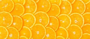 Panorama da priorità bassa arancione affettata Fotografie Stock