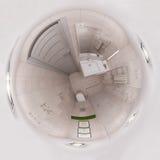 panorama da rendição 3d do interior do banheiro Imagem de Stock