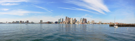 Panorama da skyline de Boston Fotos de Stock Royalty Free