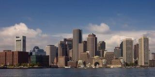 Panorama da skyline de Boston Foto de Stock