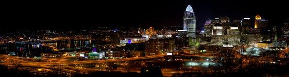 Panorama da skyline de Cincinnati imagens de stock royalty free