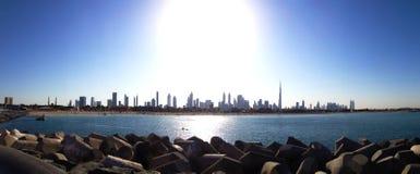 Panorama da skyline de Dubai Imagem de Stock