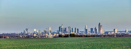 Panorama da skyline de Francoforte Foto de Stock