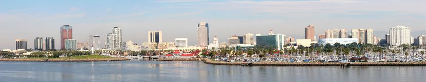 Panorama da skyline de Long Beach Imagem de Stock Royalty Free