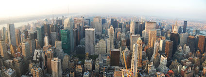 Panorama da skyline de MANHATTAN Imagem de Stock Royalty Free