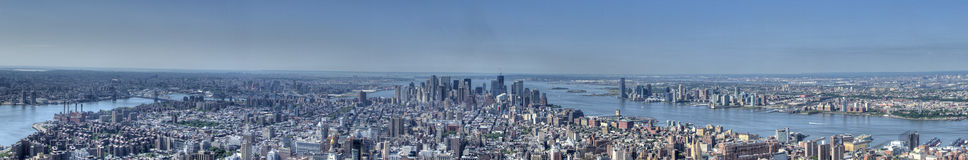 Panorama da skyline de Manhattan Foto de Stock Royalty Free