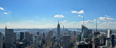 Panorama da skyline de Manhattan Fotos de Stock