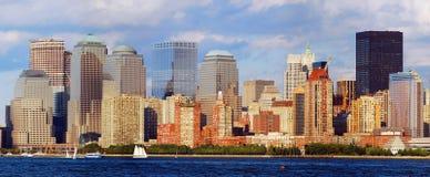 Panorama da skyline de New York City Imagens de Stock Royalty Free