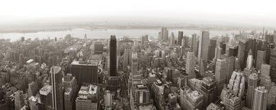 Panorama da skyline de New York City Manhattan fotos de stock