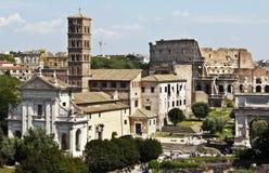 Panorama da skyline de Roma imagem de stock