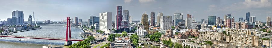 Panorama da skyline de Rotterdam imagem de stock royalty free