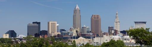 Panorama da skyline de XXL Cleveland Fotografia de Stock Royalty Free