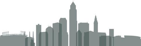 Panorama da skyline de XXL Cleveland Foto de Stock Royalty Free