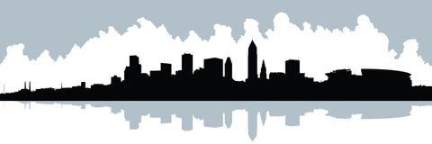 Panorama da skyline de XXL Cleveland Imagem de Stock Royalty Free