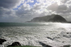 Panorama da tempestade do mar do inverno Imagem de Stock Royalty Free