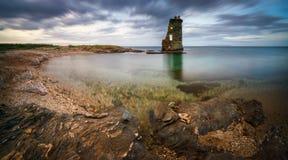 Panorama da torre de Cap Corse Fotos de Stock Royalty Free