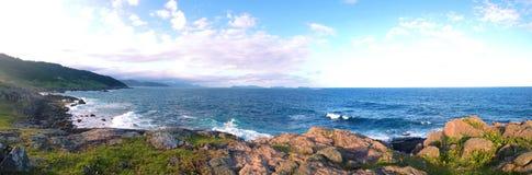 Panorama da Trilha da Praia da Silveira. Royalty Free Stock Image
