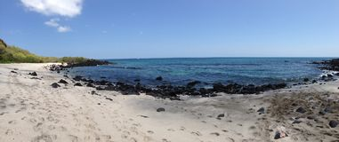 Panorama da una spiaggia immagini stock libere da diritti