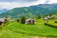 Panorama da vila suíça Foto de Stock Royalty Free