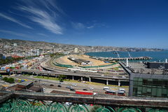 Panorama dal barone di mirador valparaiso chile Immagini Stock Libere da Diritti