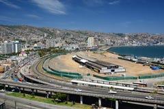 Panorama dal barone di mirador valparaiso chile Fotografia Stock