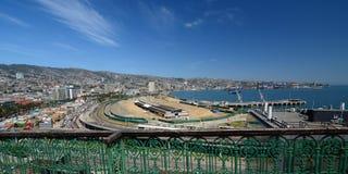 Panorama dal barone di mirador valparaiso chile Fotografie Stock Libere da Diritti