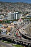 Panorama dal barone di mirador valparaiso chile Fotografia Stock Libera da Diritti