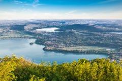 Panorama dal dei regionale Fiori del campo del parco di Varese Fotografia Stock Libera da Diritti