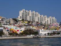 Panorama dal mare alla città di Yeosu Fotografie Stock Libere da Diritti