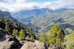 Panorama dal parco rurale Gran Canaria di Nublo Fotografia Stock Libera da Diritti