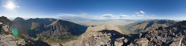 Panorama dal picco di Humboldt Immagini Stock