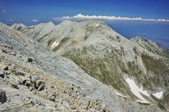 Panorama dal picco di Vihren al picco di Kutelo Immagini Stock