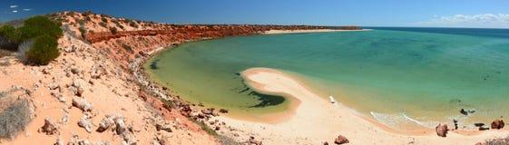 Panorama dal punto delle bonite Parco nazionale di François Peron Baia dello squalo Australia occidentale fotografia stock