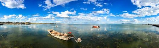 Panorama of DALINOR Lake in Inner Mongolia Royalty Free Stock Photo