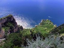 Panorama dalla cima della montagna Immagini Stock Libere da Diritti