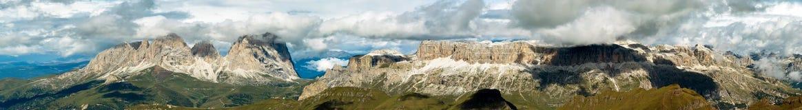 Panorama dalla montagna di Marmolada, Italia Immagini Stock