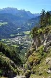 Panorama dalle montagne immagini stock libere da diritti