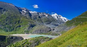 Panorama Dam Wall Of Kaprun Power Plant, Austria Royalty Free Stock Photo