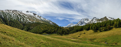 Panorama dans le Caucase photo libre de droits