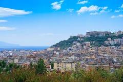 Panorama dans Napoli Photographie stock libre de droits