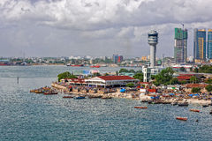 Panorama Dar Es Salaam Obrazy Stock