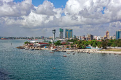 Panorama of Dar Es Salaam Royalty Free Stock Photos