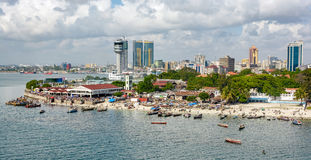 Panorama of Dar Es Salaam Stock Photography