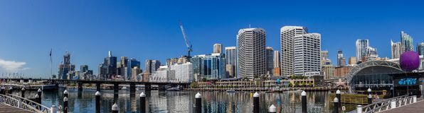 Panorama of Darling Harbour, New South Wales stock photo