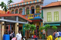 Panorama das atividades em pouca Índia, Singapura fotos de stock