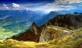 Panorama das dolomites Imagem de Stock Royalty Free