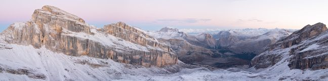 Panorama das dolomites Fotografia de Stock Royalty Free