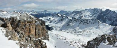 Panorama das dolomites Fotos de Stock Royalty Free