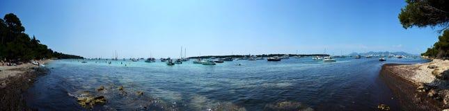 Panorama das ilhas de Lérins Fotos de Stock Royalty Free